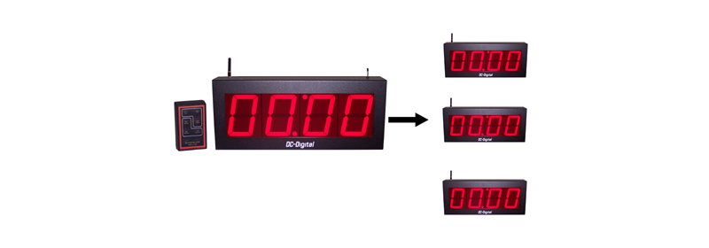DC-40T-DN-Wireless-Master-Slave-Timer-Clock-System