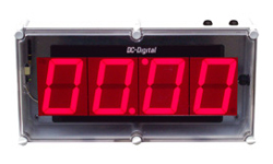 (DC-40T-UP-NEMA) 4.0 Inch LED Digital, Push-Button Controlled, Count Up Timer, Shift Digit Technology, NEMA Enclosed