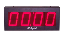 (DC-40T-UP-TERM) 4.0 Inch LED Digital, Multi-Input (PLC-Relay-Switch-Sensor) Controlled, Count Up Timer, Shift Digit Technology