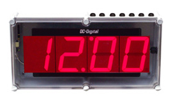 (DC-40UT-NEMA) 4.0 Inch LED Digital, Top Mounted Push-Button Controlled, Count Up timer, Countdown Timer, Time of Day Clock with NEMA 4X Enclosure