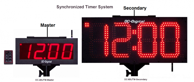 Synchronized Timers as a system DC-40UTW-4 Inch-Master with a DC-80UTW-Secondary