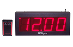 DC-40W-4W-Master-Wireless-Set-Wired-Output-Clock-4-Inch-Digits-PP
