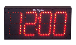 (DC-60-GPS) 6.0 Inch LED Digit, GPS Receiver Synchronization, Atomic Time of Day Digital Clock (OUTDOOR)