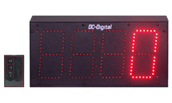 (DC-60T-UP-DAYS-W) 6.0 Inch LED Digit, RF-Wireless Remote Handheld Controlled, Count Up by Days Timer (OUTDOOR)