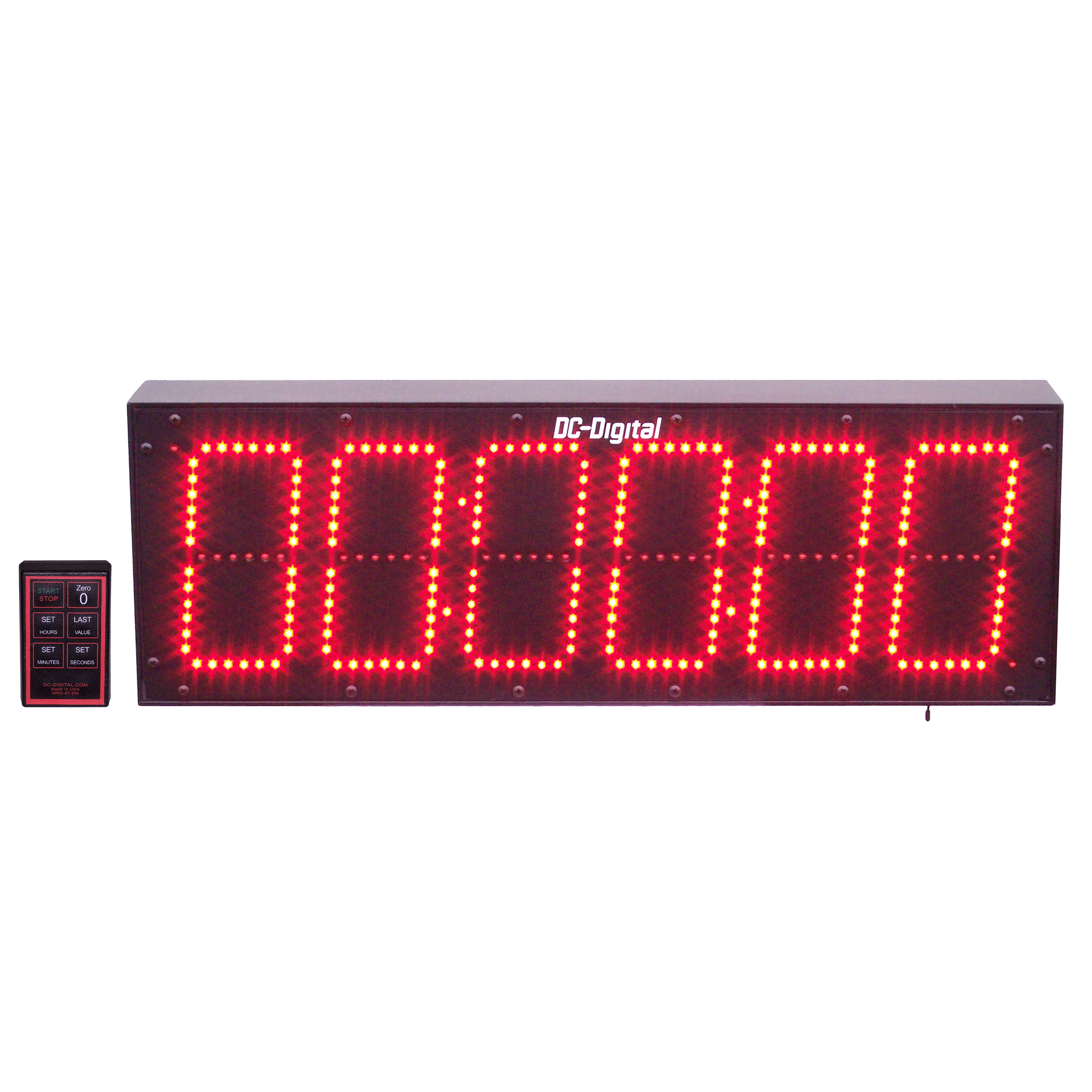 Dc 606t Dn W Rf Wireless Remote Controlled Digital Countdown Timer 6 Inch Digits Hours Minutes Seconds Outdoor