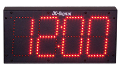 (DC-60N) 6 Inch LED, Network NTP Server Synchronized, Web Page Configurable, Atomic Digital Time of Day Clock (OUTDOOR)