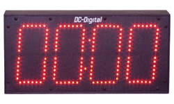 (DC-60N-T-DN-UP-Static-IN) 6.0 Inch LED Digital, Network Connected, Web Page Controlled, Count Up timer, Countdown Timer, Time of Day Clock and Static Number Display (INDOOR)