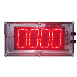 Digital countdown timer with 6 inch digits bcd rotary set switches and nema 4x enclosure