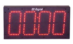 (DC-60T-UP-TERM-IN) 6.0 Inch LED Digital, Multi-Input (PLC-Relay-Switch-Sensor) Controlled, Count Up Timer, Shift Digit Technology (INDOOR)