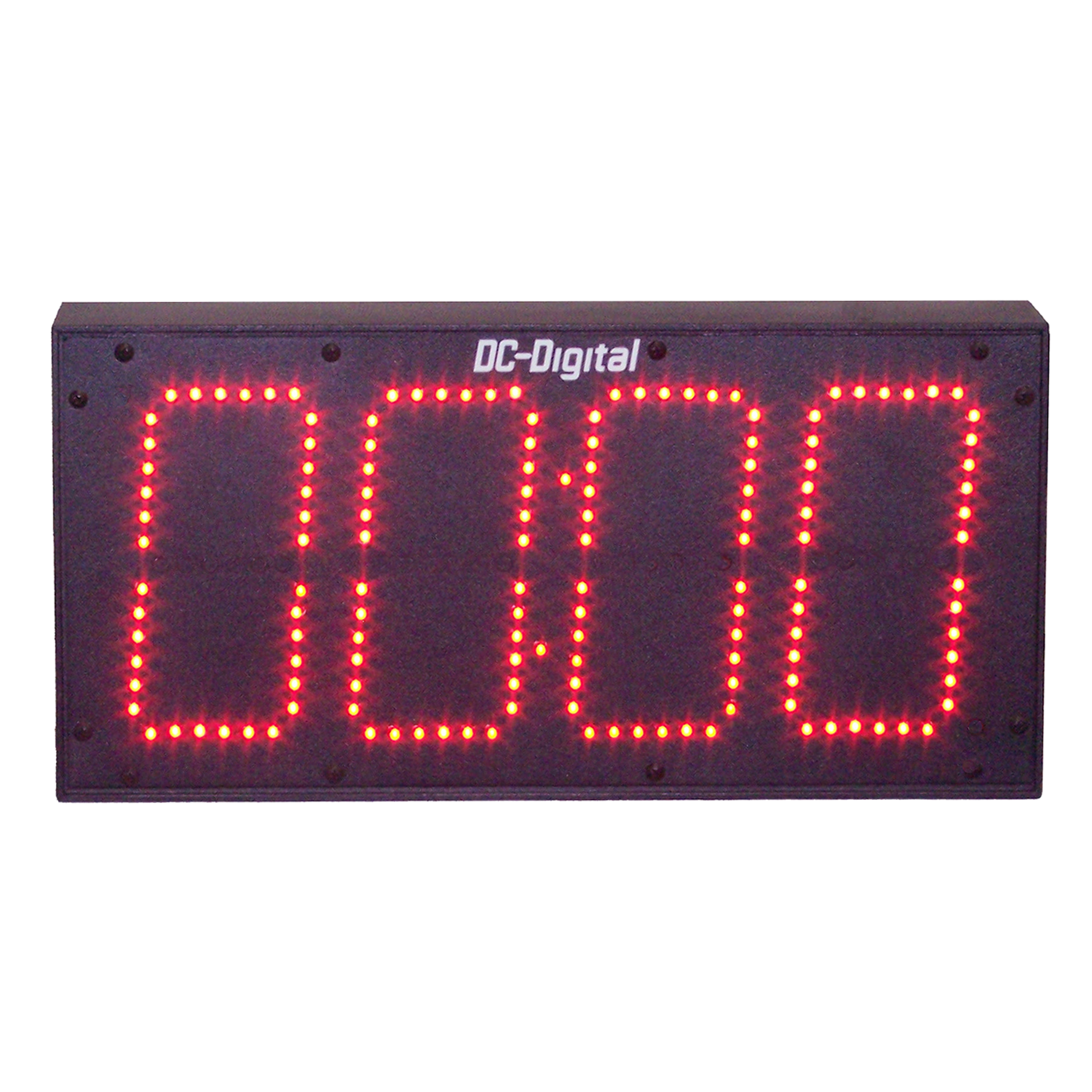 (DC-60T-UP-TERM) 6.0 Inch LED Digital, Multi-Input (PLC-Relay-Switch-Sensor) Controlled, Count Up Timer, Shift Digit Technology (OUTDOOR)