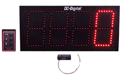 (DC-60T-UP-DAYS-W-RETROFIT) RF-Wireless Remote Controlled Digital Count Up by Days Timer-Clock, 6 Inch LED Digits, Retrofit (OUTDOOR)