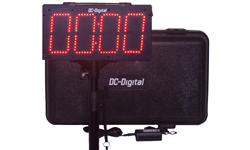 (DC-60UT-BTC) Portable 6.0 Inch LED Digit, Multi-Function, Multipurpose Sport (Counts Up, Counts Down and Time of Day Clock), Battery Operated, Digital Timer-Clock, Environmentally Sealed Push-Button Controlled , Carrying handle, Carrying Case, Tripod with Mount and Battery Charger (INDOOR/OUTDOOR)