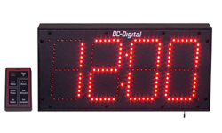 DC-60UTW-Outdoor-RF-Wireless-CountDown-Count-up-Timer-Clock-6-Inch-Digits
