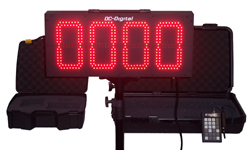 (DC-80-W-SIG) 8 Inch LED Digital, Wireless Remote Keypad Controlled, Baseball-Softball Coaches Sign-Signal, Number Display (OUTDOOR)