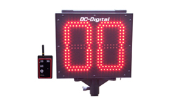 (DC-802T-DN-W-PITCH-INNING) Portable Battery Operated, RF-Wireless High Powered Remote Controlled, 8 Inch LED Digital Countdown Pitch Inning Timer-Clock (OUTDOOR)