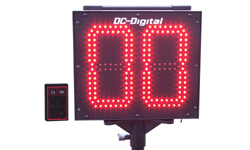 (DC-802C-W-Pitch) Portable Baseball-Softball, 8 Inch LED Electronic Digital Pitch Counter, RF-Wireless Remote Controlled (OUTDOOR)