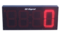 (DC-80C-Term-IN) 8.0 Inch LED Digital Multi-Input Counter that accepts: PLC, Relay, Switch and Sensor Input Controls (INDOOR)