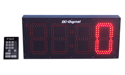 (DC-80C-Term-Key-Pace) 8.0 Inch LED Digital Production Pace Timer-Counter with 24 Keypad Programmer and Controller (OUTDOOR)