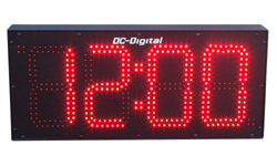 (DC-80N) 8 Inch LED, Network NTP Server Synchronized, Web Page Configurable, Atomic Digital Time of Day Clock (OUTDOOR)