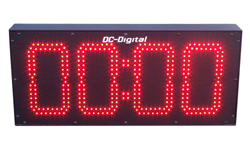 (DC-80N-T-DN-UP-Static-IN) 8.0 Inch LED Digital, Network Connected, Web Page Controlled, Count Up timer, Countdown Timer, Time of Day Clock and Static Number Display (INDOOR)