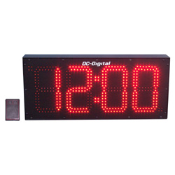 DC-80S-W-8-Inch-Clock-RF-Wireless-Remote