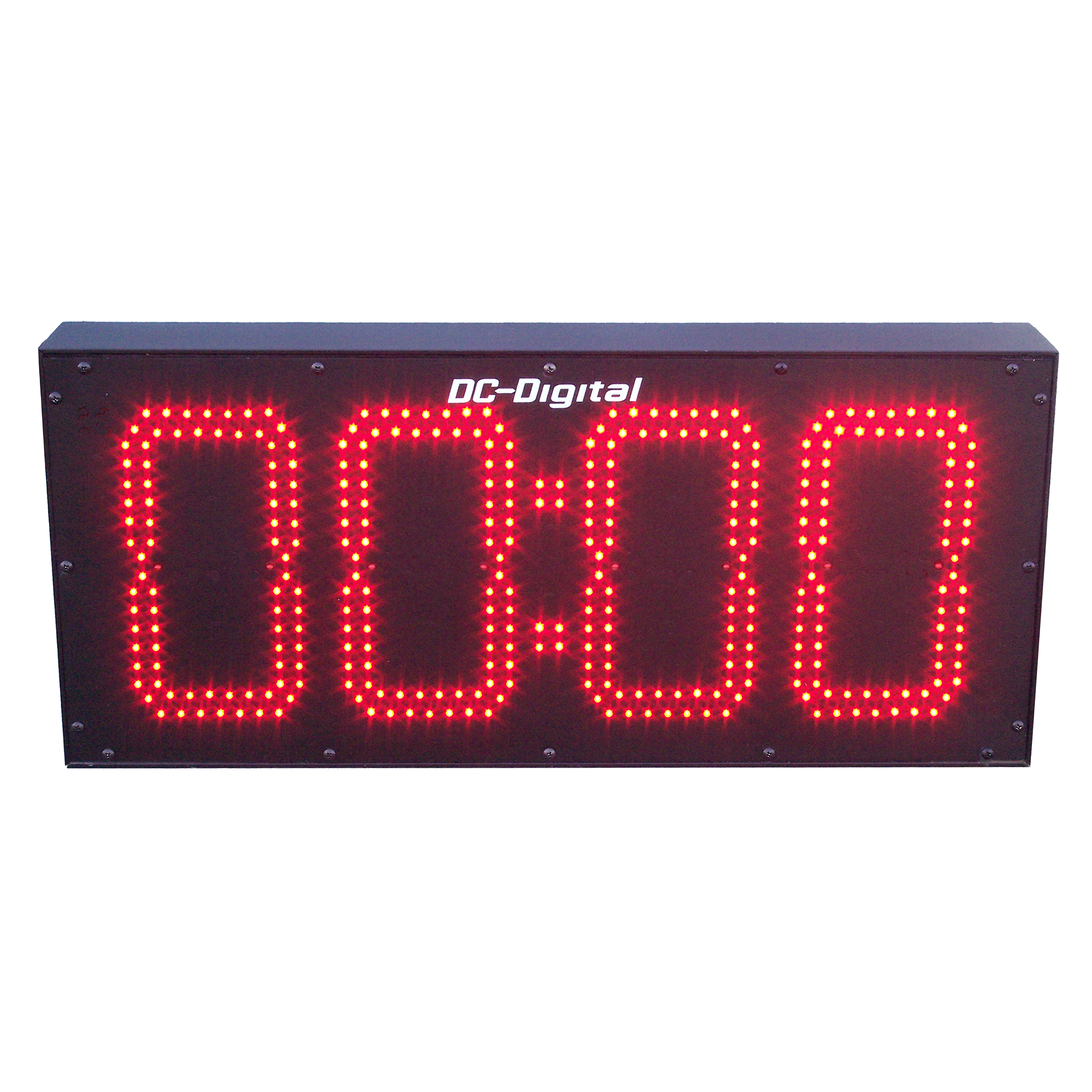 (DC-80T-DN-BCD) 8.0 Inch LED Digital, BCD Rotary Set Switches, Multi-Input (PLC-Relay-Switch-Sensor) Controlled, Countdown Timer (OUTDOOR)