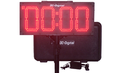 (DC-80UT-BTC) Portable 8.0 Inch LED Digit, Multi-Function, Multipurpose Sport (Counts Up, Counts Down and Time of Day Clock), Battery Operated, Digital Timer-Clock, Environmentally Sealed Push-Button Controlled , Carrying handle, Carrying Case, Tripod with Mount and Battery Charger (INDOOR/OUTDOOR)