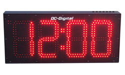 DC-80UT-Multi-Function-Push-Button-Controlled-Count-Up-Countdown-Timer-Clock-8-Inch-Digits