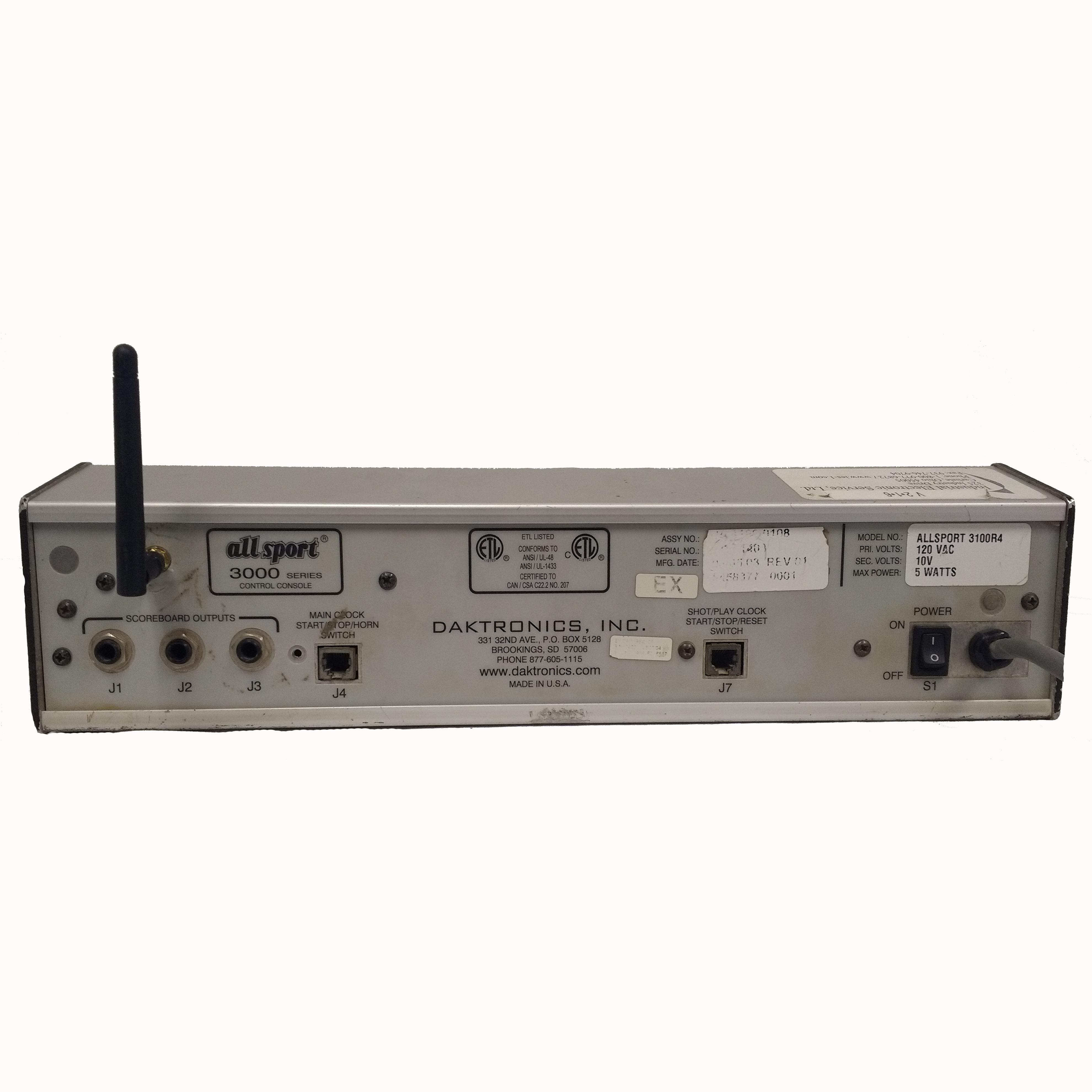 (0A-1196-0108) Daktronics All Sport 3000 Wireless GEN IV,V Controller (Refurbished) 1