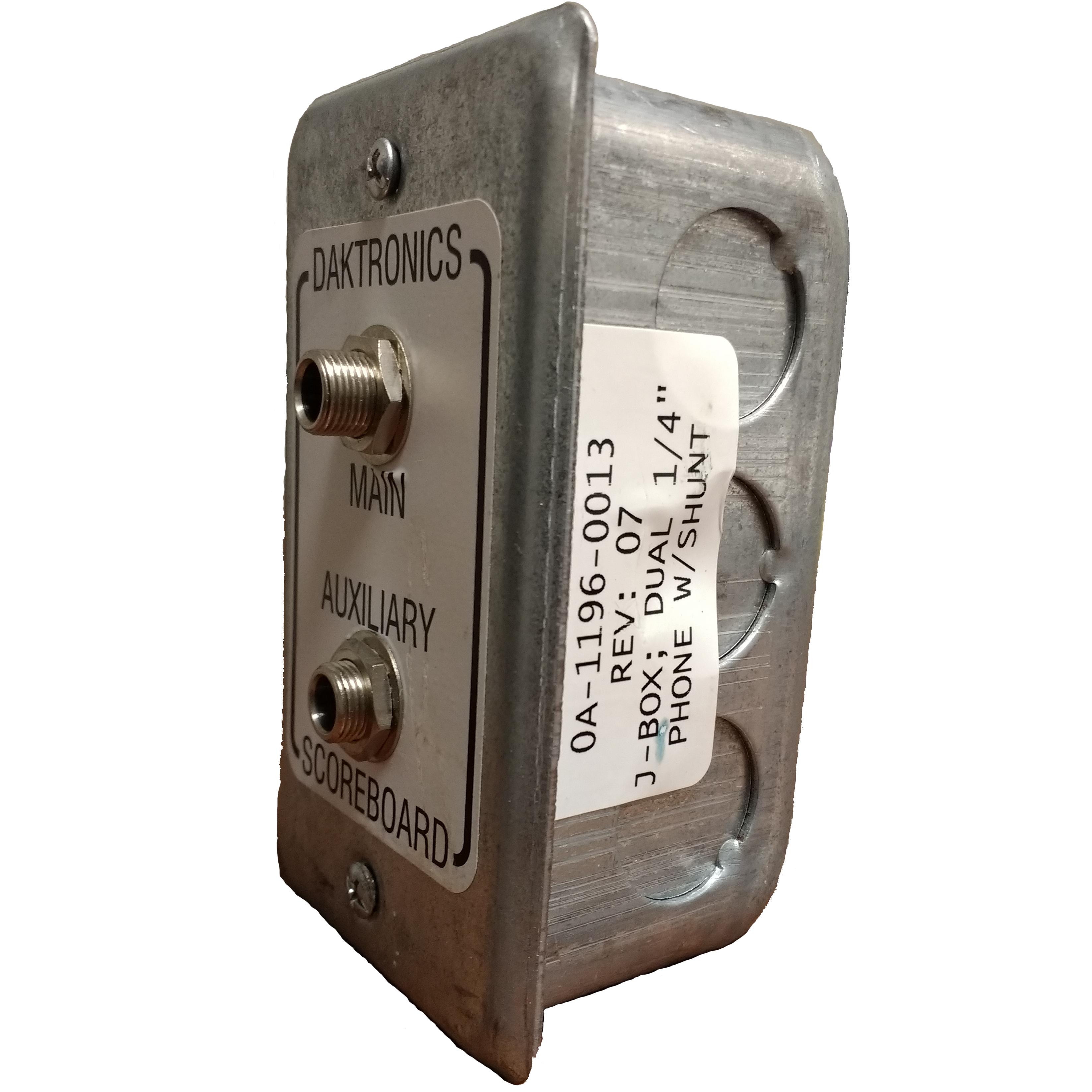 (0A-1196-0013) Daktronics Scoreboard Wired Dual Input J-Box 1