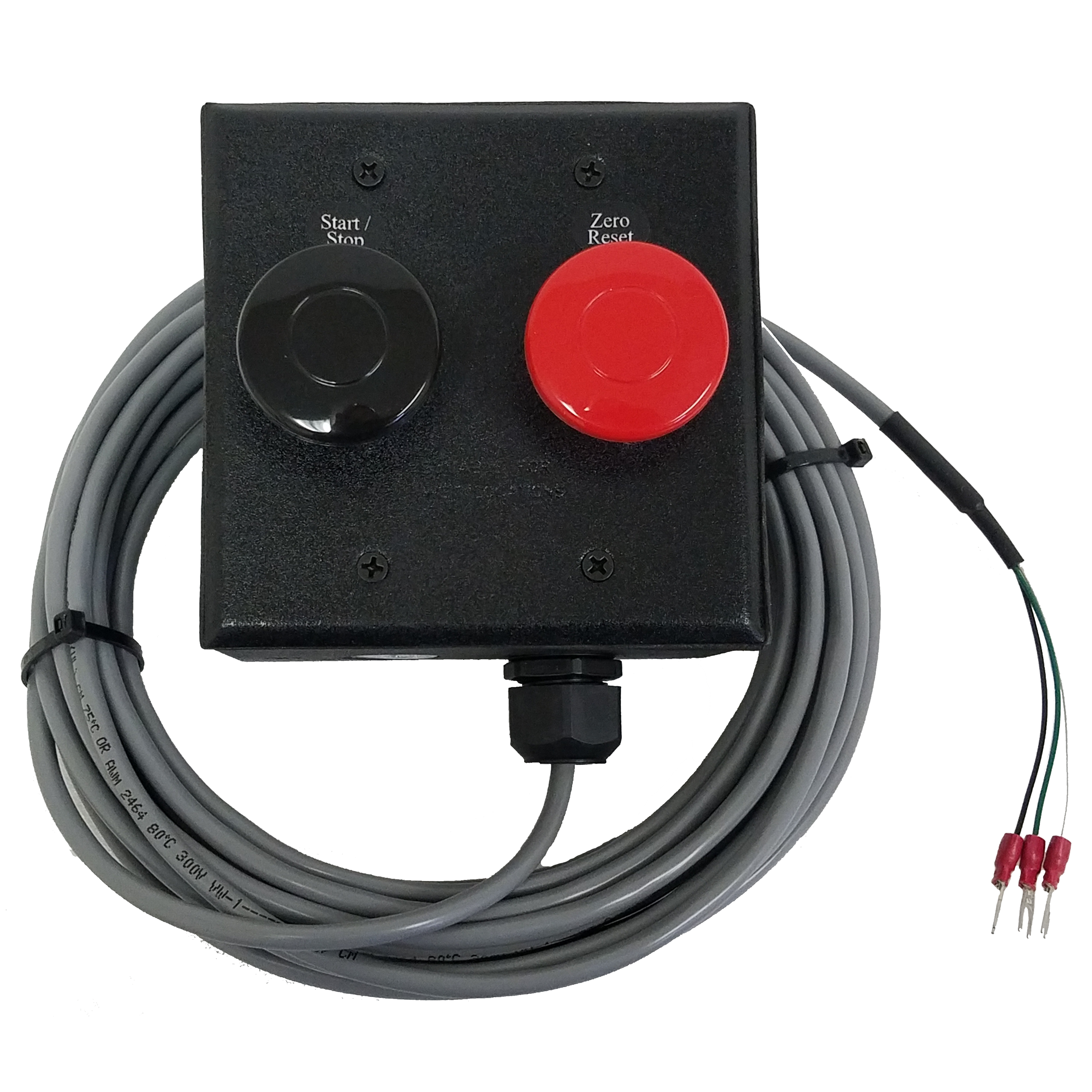 (SW-2-HD-RED-BLK) Heavy Duty Momentary Switches with 40mm Actuator, Enclosure, Cabling