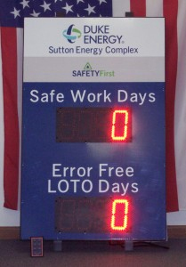 DC-60T-UP-Days safe work days display with 6 inch LED digits