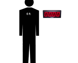 DC-40 timer with 6 foot silhouette of man