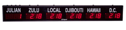2.3 Inch LED, Push-Button-Controlled, 5 Zone Digital Time of Day