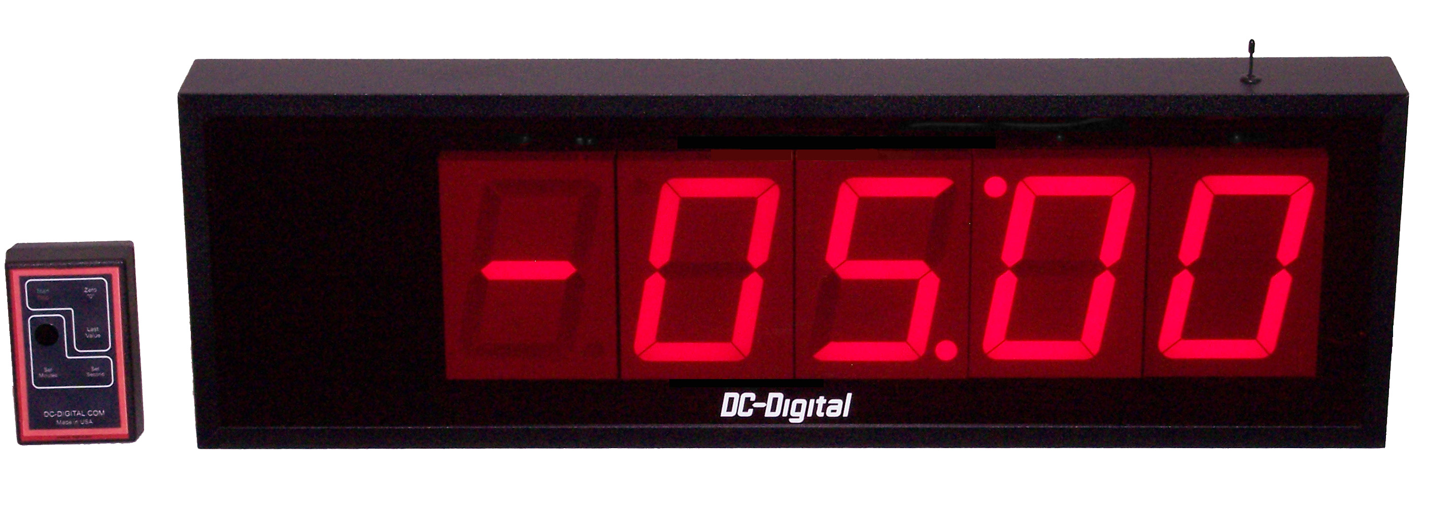 DC-405T-DN-Neg, Custom Speech Timer - Goes to zero than counts up w/neg sign