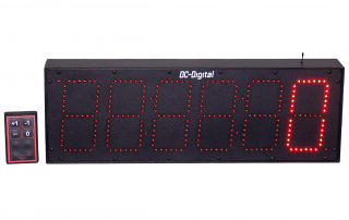 6-6 Inch Digit LED Digital Counter with wireless handheld controls