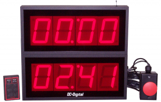 (2) 4 inch Count Up timers with time accumulation adding the time from multiple timing sequences
