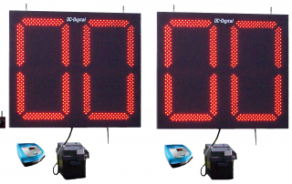 Football Play Clocks Timers Battery operated RF-Wireless Handheld Remote controls