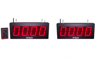 Digital LED Synchronized Wireless Countdown timers with wireless controls view-able up to 200 feet