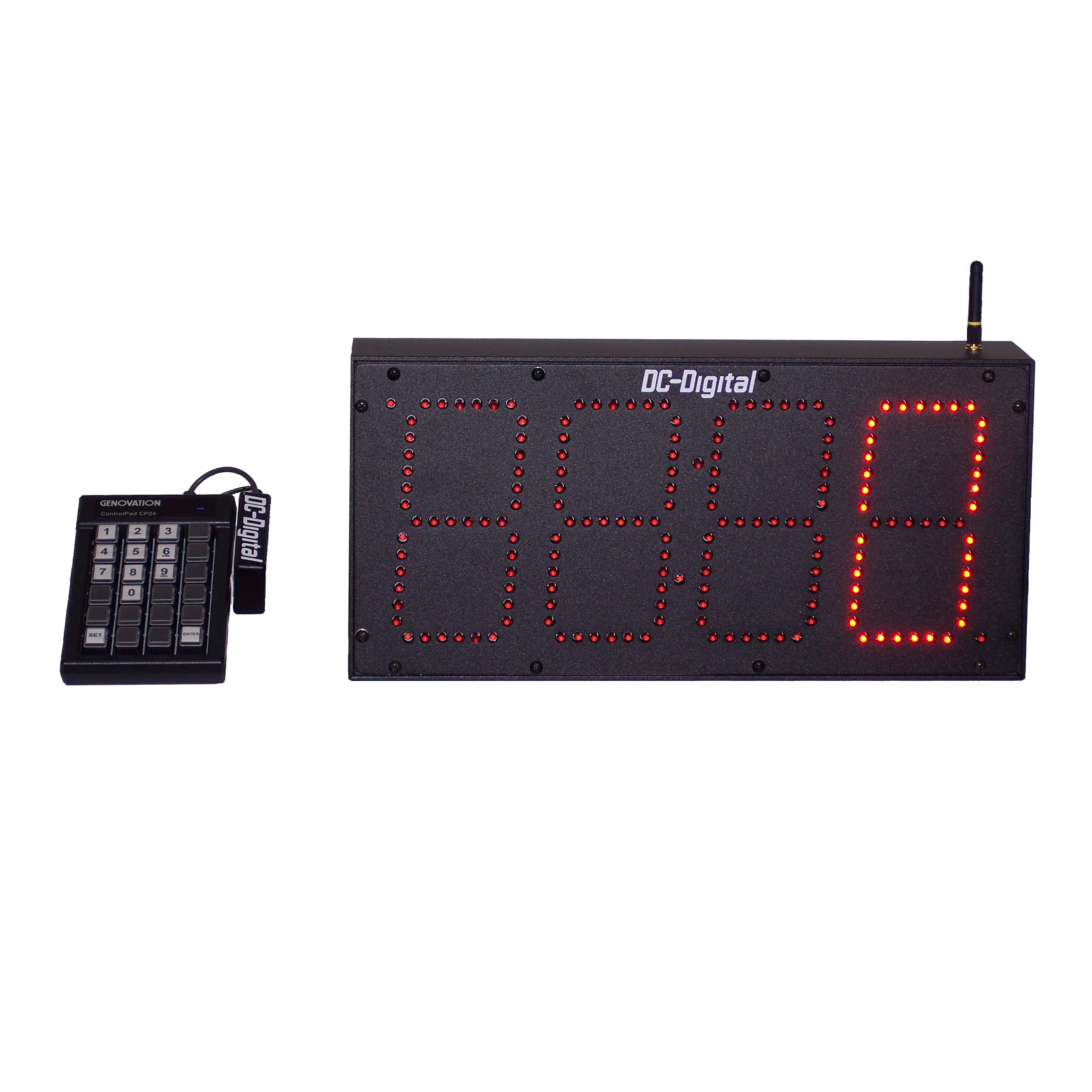 6 inch 4 digit large number display that has keypad entry for quick number display 1500 feet range