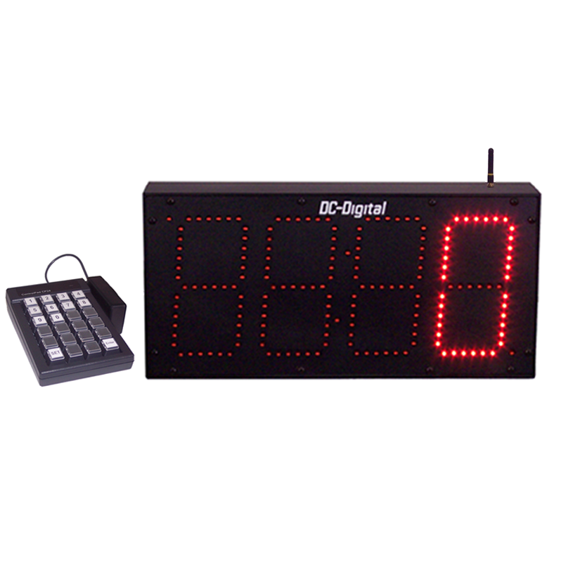 6 inch digital LED display count up pace timer with wireless Keypad control