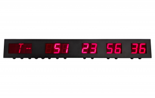 12 Digit Days hours minutes and seconds count up and countdown multi-timer with alpha-numeric display