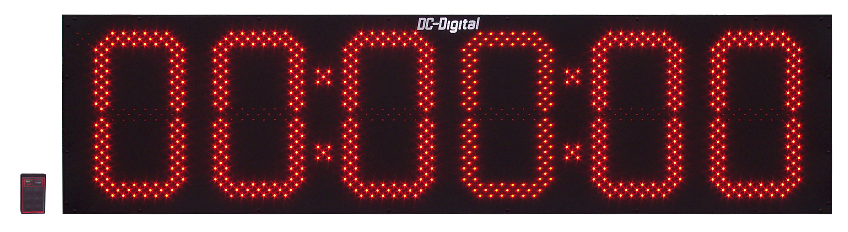 15 Inch Digital Count Up Timer / Elapsed Time, Hours, minutes and seconds. Wireless RF Controlled.