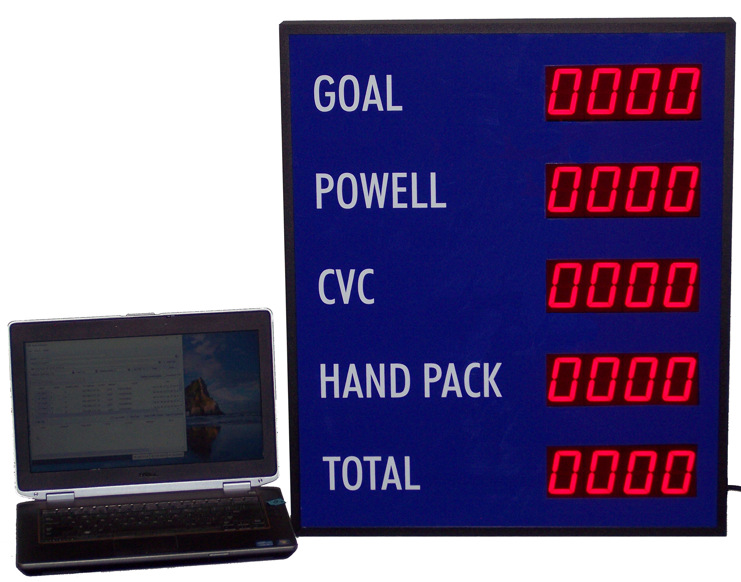 Wifi addressable Static number display DC-25N-Static-Wifi, 5 in one enclosure