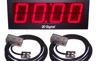 4 inch 4 digit count up elapsed time timer for garages with pneumatic switches