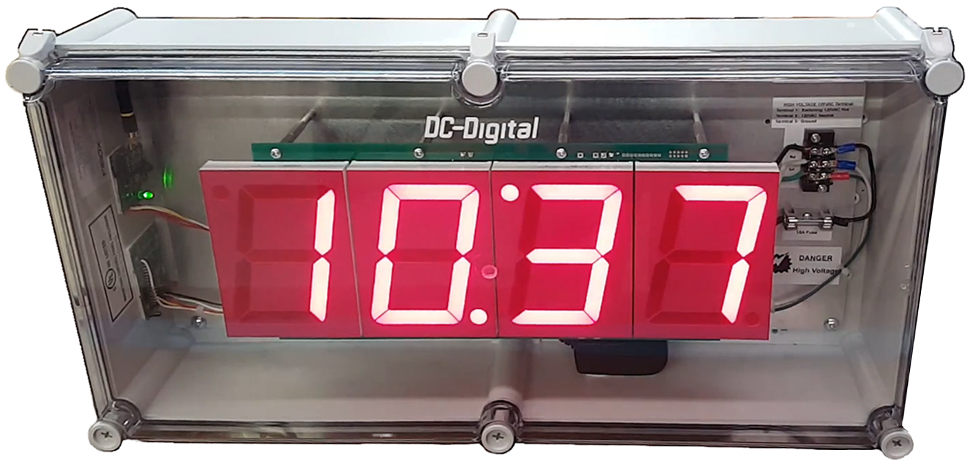 Ez-Time wireless clock system with store and forward addressable relays in a nema enclosure