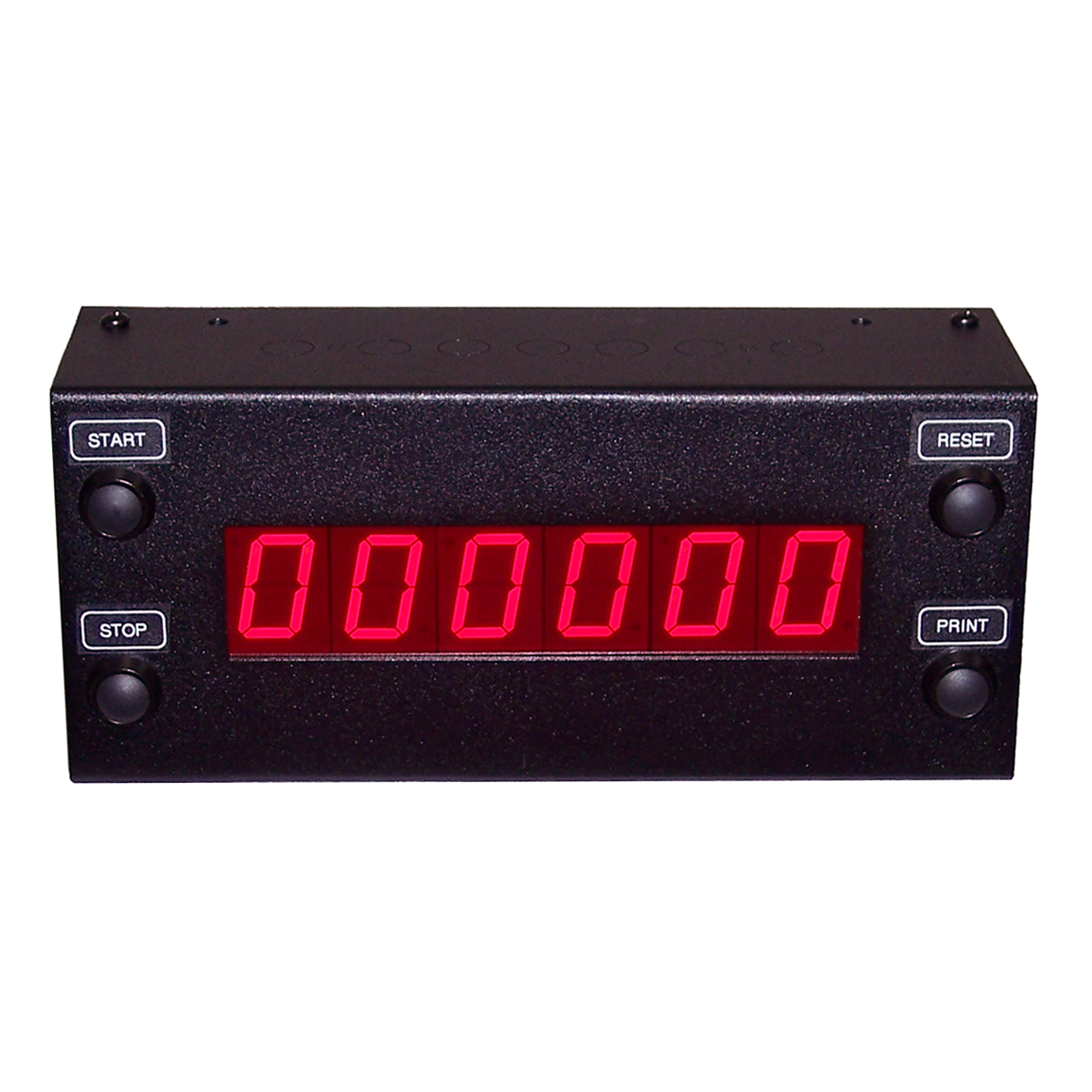 DC-106N-T-UP-STATIC network controlled start, stop, reset, set, and request for time stamp or print, seconds only up to 999999