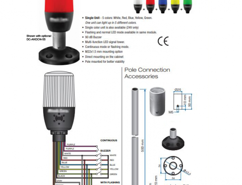 Multi-Color ANDON LED Stack Light and Buzzer all in one: 360 Degree Viewing