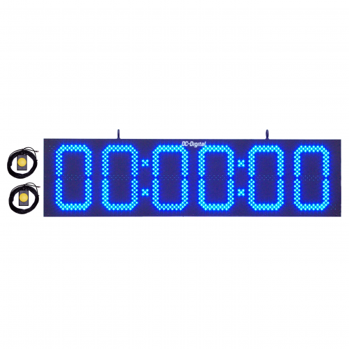 Ninja obstacle course count up stopwatch timer with blue 15 Inch LED's digits