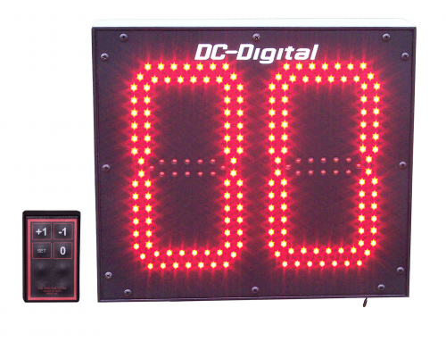 Large 8 Indoor-Outdoor Inch Customer Now Serving LED Digital Counter, with Wireless RF Controls